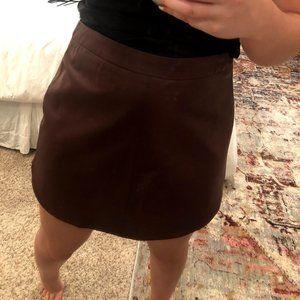 Wine Leather Mini Skirt